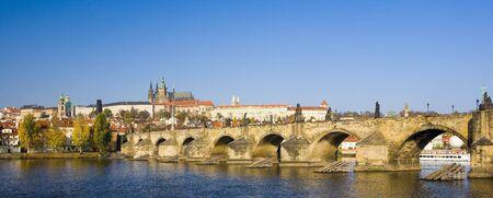 viniculture: Prague Castle with Charles bridge, Prague, Czech Republic