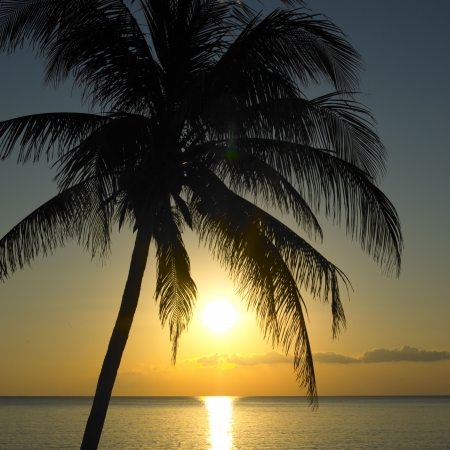 sunset over Caribbean Sea, Maria la Gorda, Pinar del Río Province, Cuba Stock Photo - 6000979