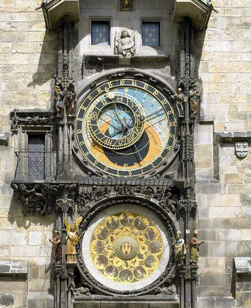 Horloge, Old Town Hall, Prague, Czech Republic Stock Photo - 6001145