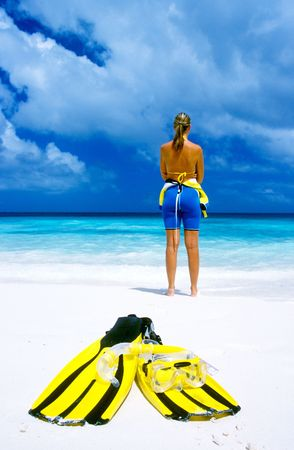 woman on summer holiday photo