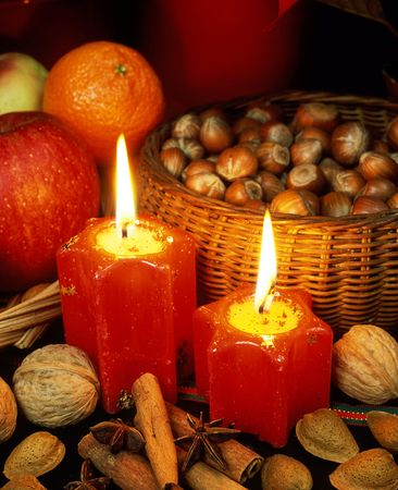 christmas ground: Christmas still life Stock Photo