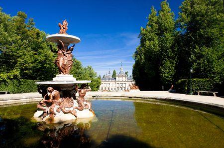 castile leon: La Granja de San Ildefonso with garden, Segovia Province, Castile and Leon, Spain