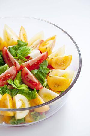 alimentation: tomato salad Stock Photo
