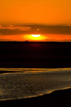auroral: sunset, Parc Regional de Camargue, Provence, France