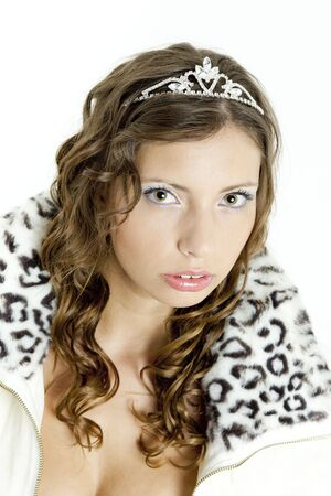 portrait of young woman with crown photo