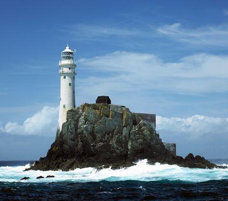 灯台、ファストネットの岩郡コルク、アイルランド