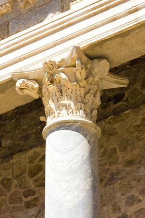 detail of Roman Theatre, Merida, Badajoz Province, Extremadura, Spain Stock Photo - 6306847