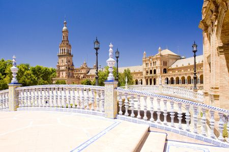 andalusien: Spanisch Square (Plaza de Espa�a), Sevilla, Andalusien, Spanien Lizenzfreie Bilder