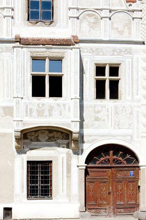 detail of renaissance house, Slavonice, Czech Republic Stock Photo - 6306840