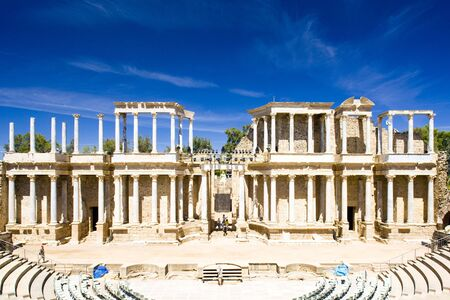 Roman Theatre, Merida, Badajoz Province, Extremadura, Spain Stock Photo - 6401285