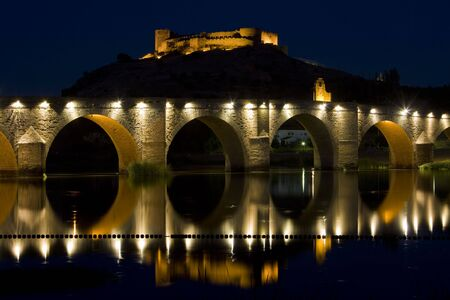 extremadura: Medellin at night, Badajoz Province, Extremadura, Spain