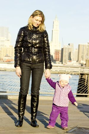 woman with toddler at Manhattan, New York City, USA photo