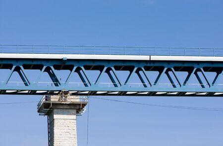 znojemsko: detail of railway viaduct, Znojmo, Czech Republic