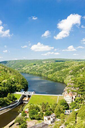 znojemsko: dam on Dyje river, Znojmo, Czech Republic Stock Photo