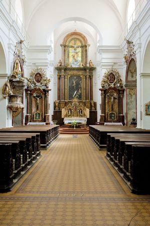znojemsko: interior of Church of Saint Cross, Znojmo, Czech Republic