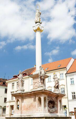 znojemsko: Masaryk Square, Znojmo, Czech Republic Stock Photo