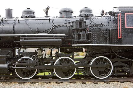 detail of steam locomotive, Railroad Museum, Gorham, New Hampshire, USA Stock Photo - 6521834