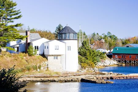 lighthouse, First Light Bed & Breakfast, Maine, USA photo