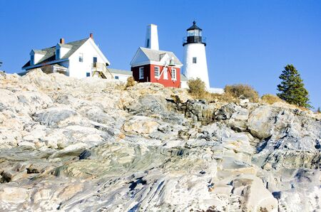 lighthouse Pemaquid Point Light, Maine, USA photo