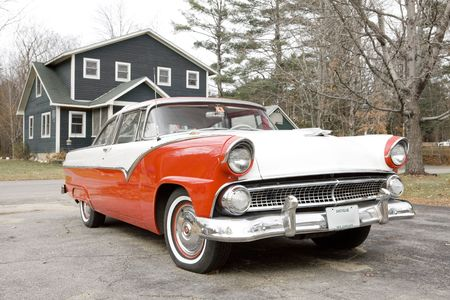 new classic: antique automobile, New Hampshire, USA