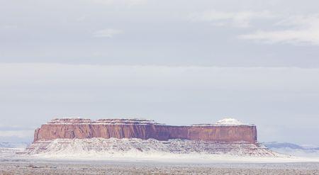 Monument Valley National Park in winter, Utah, Arizona, USA photo