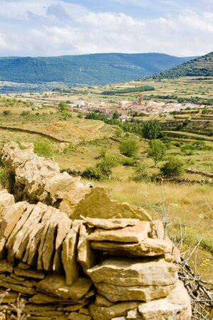 cid: La Iglesuela del Cid, Teruel Province, Aragon, Spain Stock Photo