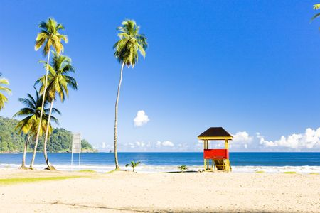cabin on the beach, Maracas Bay, Trinidad photo