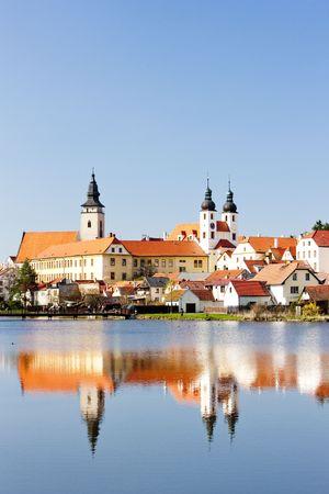 historical reflections: Telc, Czech Republic Stock Photo
