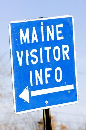 calais: sign in Calais, Maine, USA
