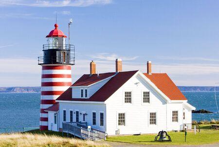 West Quoddy Head Lighthouse, Maine, USA photo