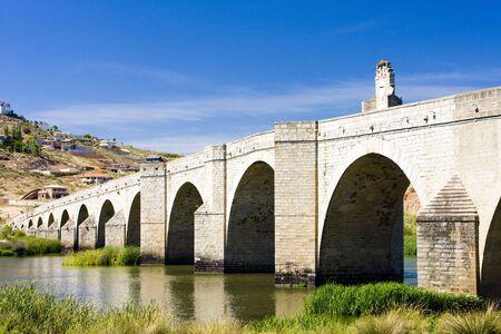 extremadura: bridge in Medellin, Badajoz Province, Extremadura, Spain Stock Photo
