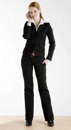 telephoning: telephoning businesswoman Stock Photo