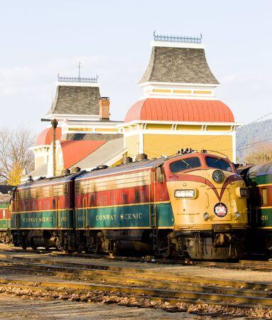 hampshire: Museo del ferrocarril, North Conway, New Hampshire, Estados Unidos