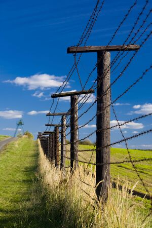 cattle wire wire: remains of iron curtain, Cizov, Czech Republic