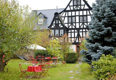 moseltal: Dreigiebelhaus, Kr�v, Rheinland Pfalz, Germany Stock Photo