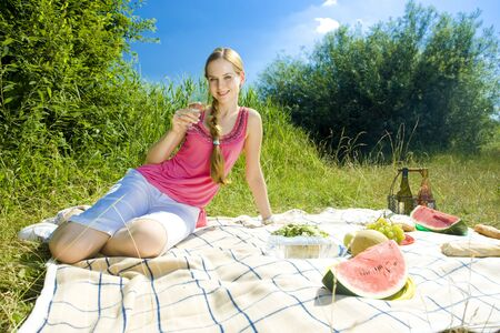 woman at a picnic Stock Photo - 6879516