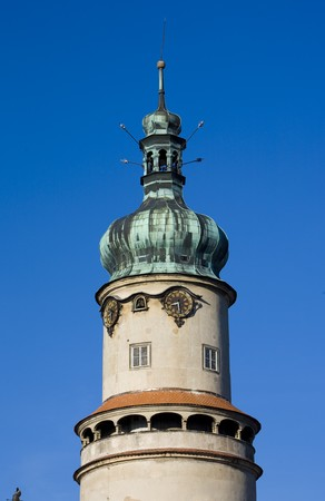 nad': chateau tower, Nove Mesto nad Metuji, Czech Republic Stock Photo
