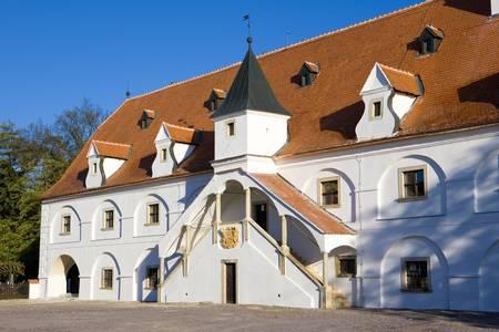 znojmo region: water mill, Slup, Czech Republic Stock Photo