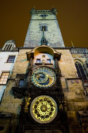 horologe: Horloge, Old Town Hall, Prague, Czech Republic
