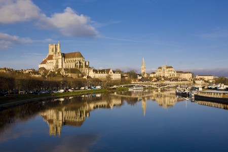 gothic build: Auxerre, Burgundy, France