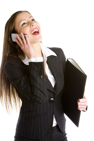 officeworker: telephoning businesswoman Stock Photo