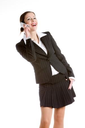 telephoning businesswoman photo
