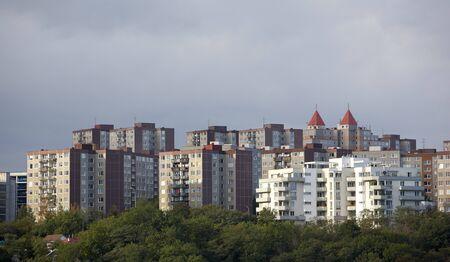 way of living: housing esate Barrandov, Prague, Czech Republic Stock Photo