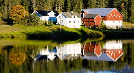 falltime: countryside, Norway Stock Photo