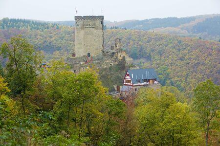 moseltal: Ehrenburg Castle, Rheinland Pfalz, Germany Stock Photo