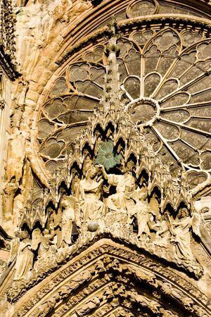 gothic build: Cathedral Notre Dame, Reims, Champagne, France Stock Photo