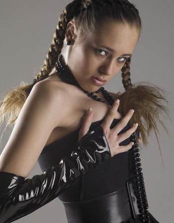 extravagancy: womans portrait Stock Photo