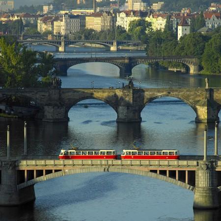 buidings: bridges, Prague, Czech Republic