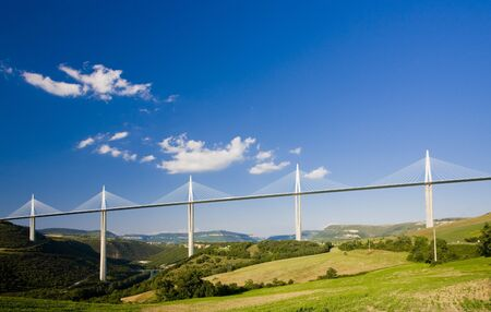 viaducts: Millau Viaduct, Aveyron D�partement, France Editorial