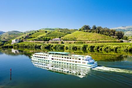 cruise ship at Peso da Regua, Douro Valley, Portugal